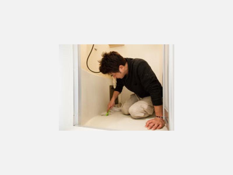 浴室の頑固な汚れも落とします