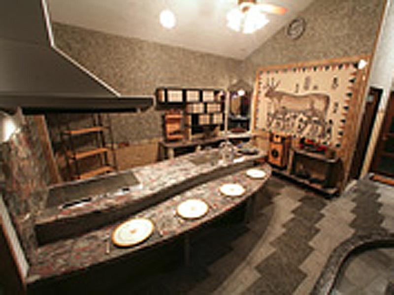石製キッチンの施工例