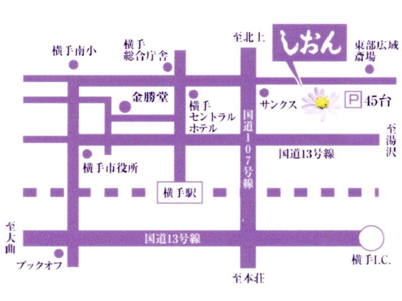 メモリアルホールしおん地図