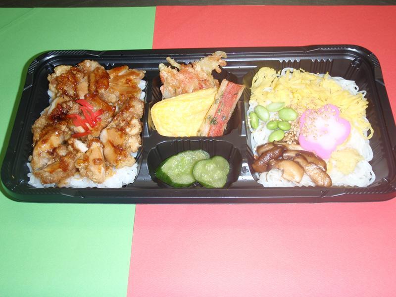 よさこい弁当(そうめん+鶏弁)450円