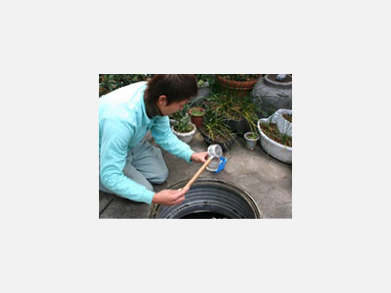 放流水の水質検査
