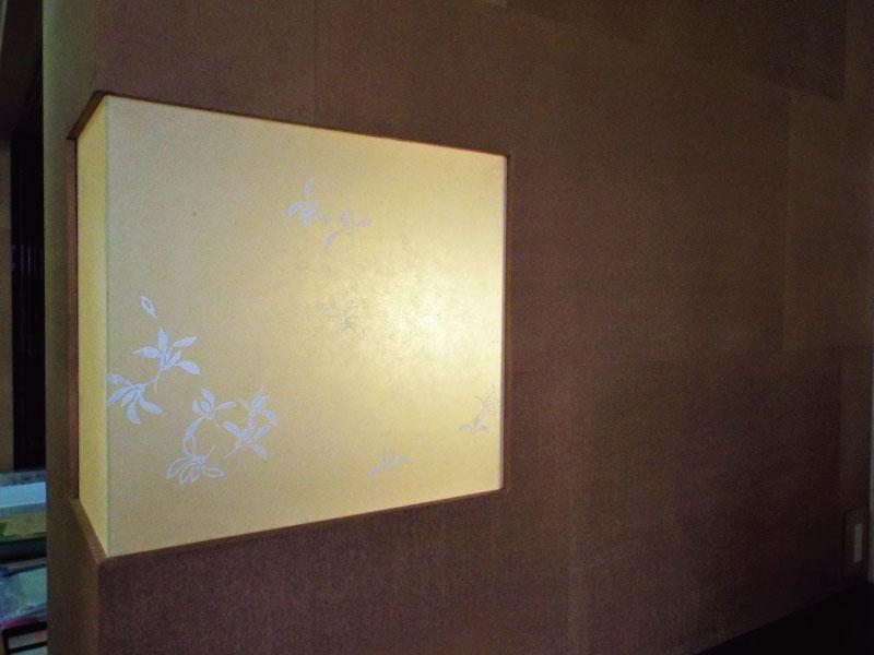 漆吹き和紙と模様摺り和紙