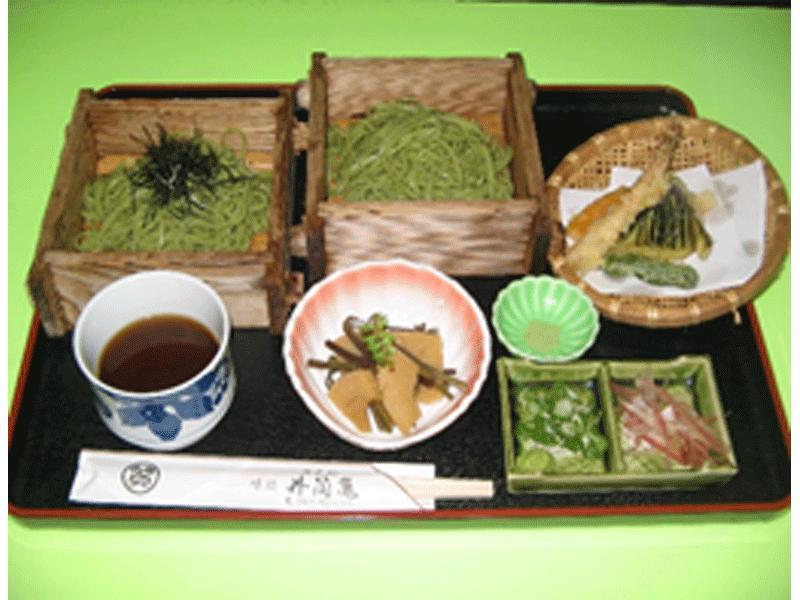 茶そばセット 1350円(税別)