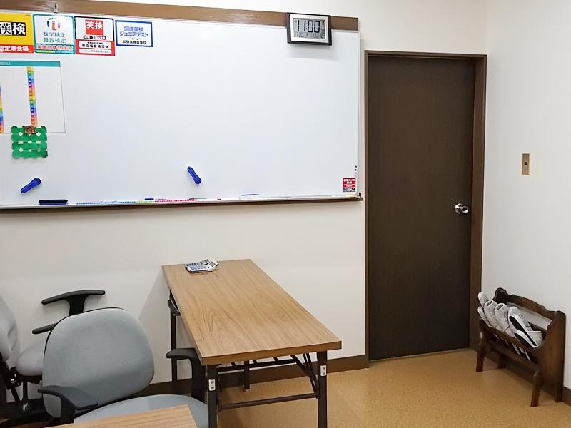 清潔感のある落ち着いた教室で勉強できます。