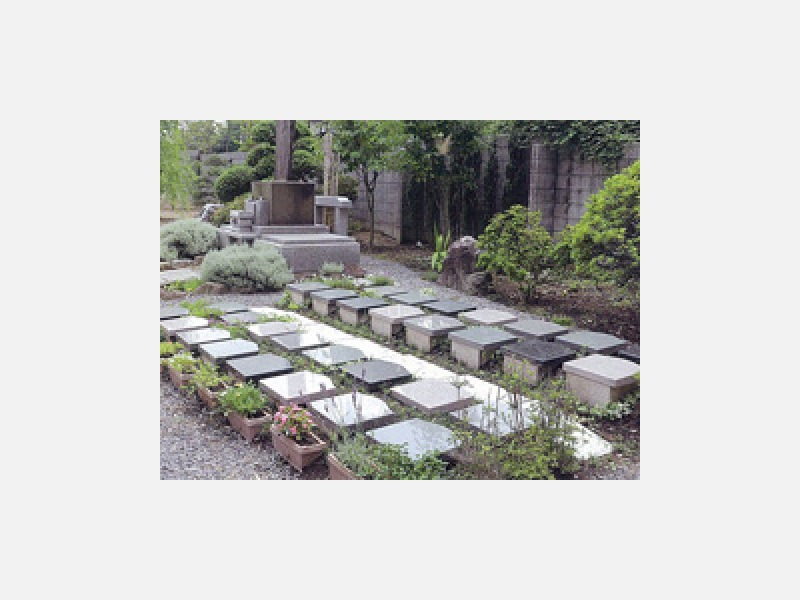 庭園墓 お一人様用の個人墓です。