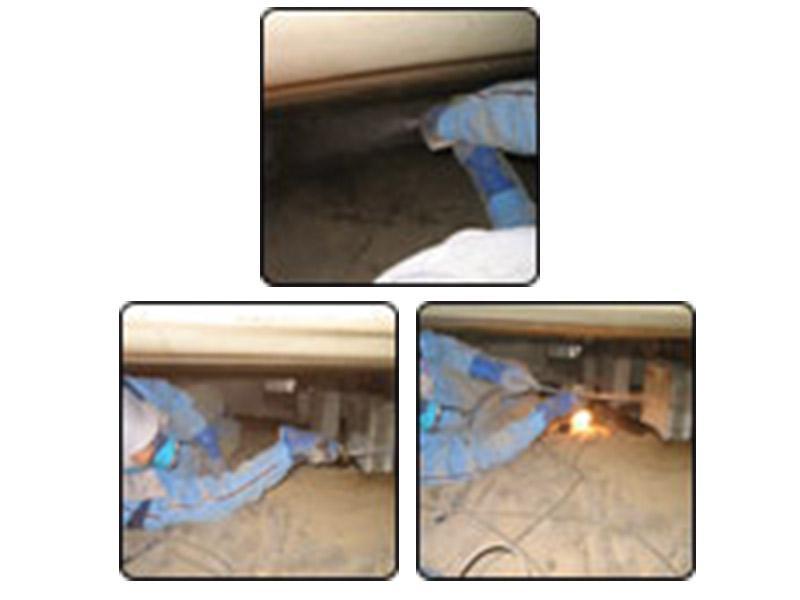 ■施工方法 家の状況に合わせて適切な処理を行います。