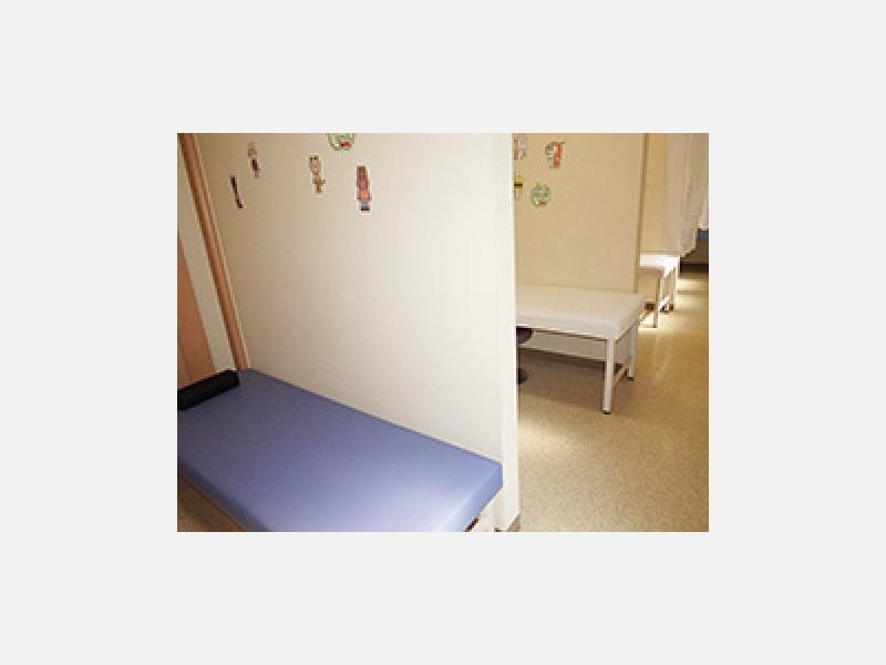 ▲隔離室:インフルエンザなど感染症も安心して受診できます