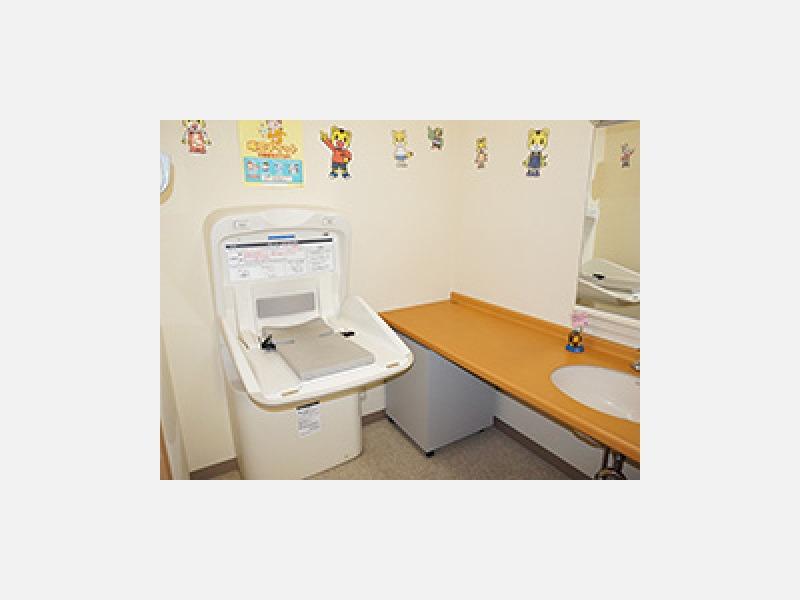 ▲トイレ:小さなお子様も安心してお使いになれます