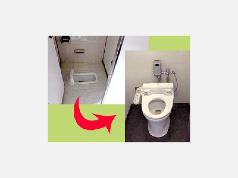 トイレ工事<施工前⇒施工後>