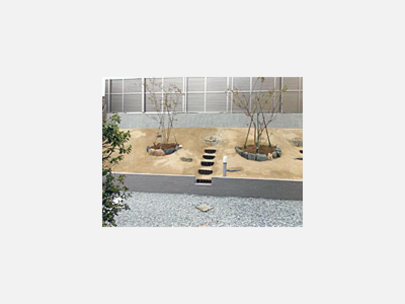 南側崖地を開拓して庭園へ/鎌ケ谷市の佐藤工業