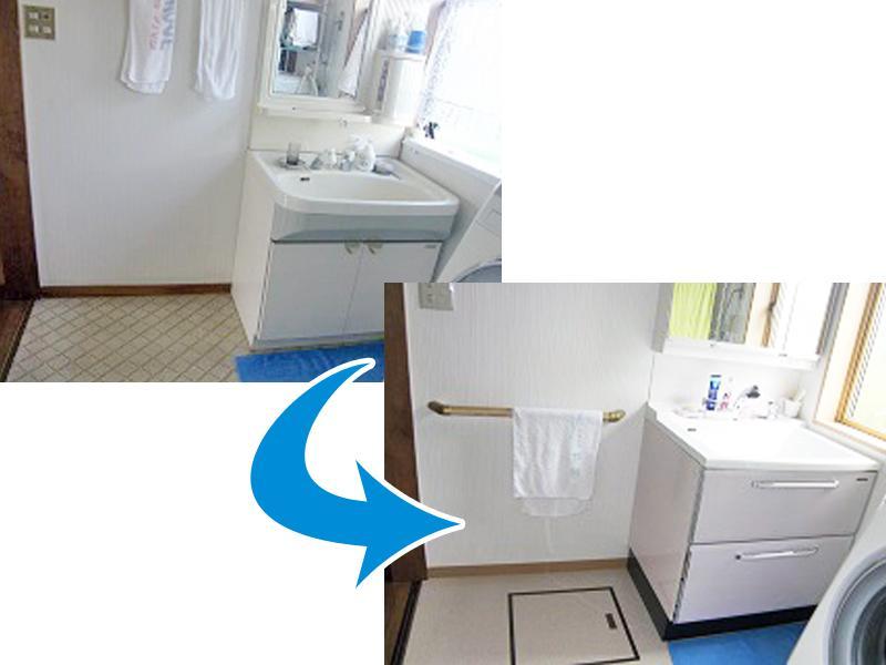 洗面所 施工事例