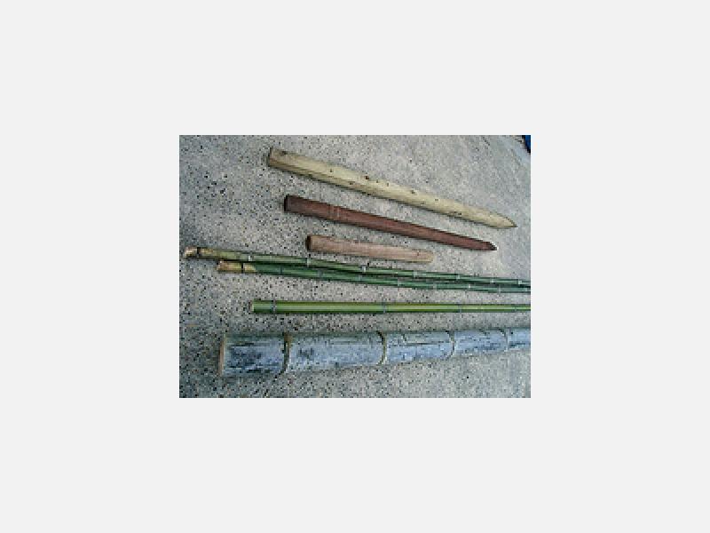 竹・杭は国内外産地より直接入荷・多種類をお値打即納