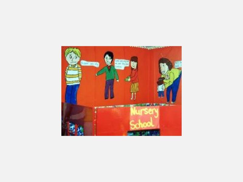 イギリスの教室の壁飾りには、ひきつけられます