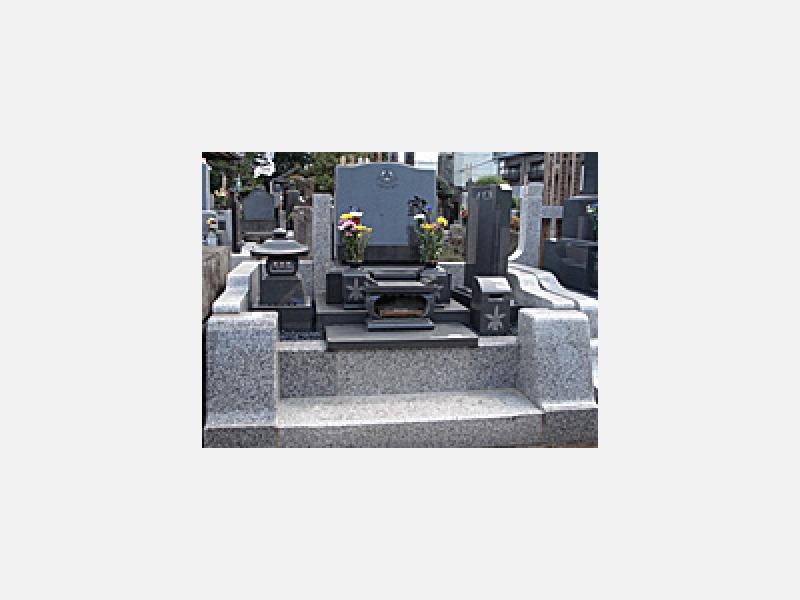 洋型墓石施工例