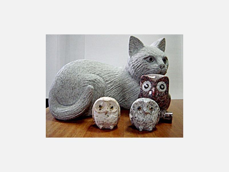 石材小物(動物)の彫刻品