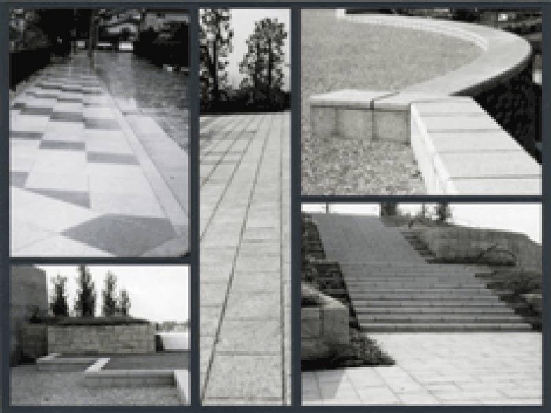 石畳 庭石 階段