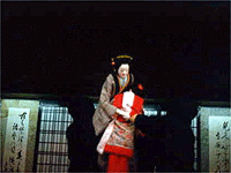 人形浄瑠璃の実演が行われている 『木偶人形会館』