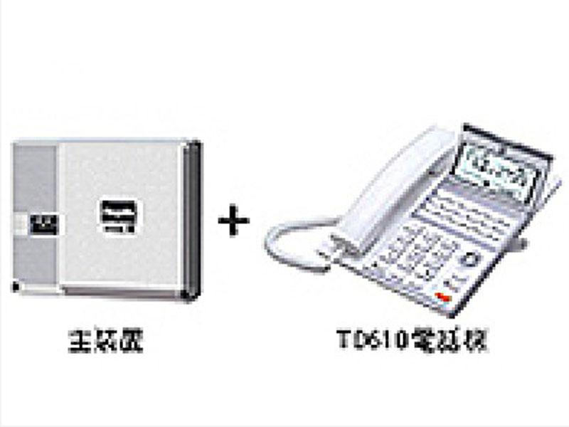 主装置1台と専用多機能電話機1台