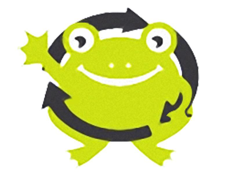▲ボクはリサイクルカエルのケロ!