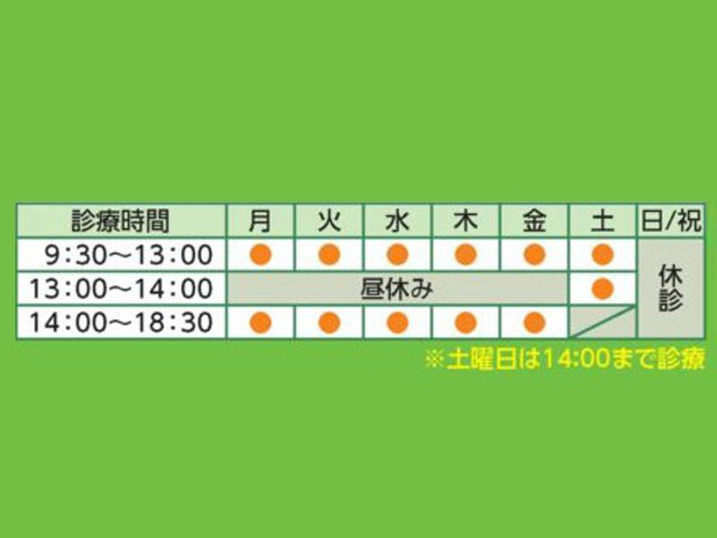 小樽駅から徒歩5分。土曜日も14時まで診療