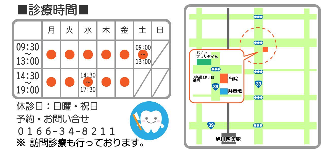 永山歯科クリニック地図・時間
