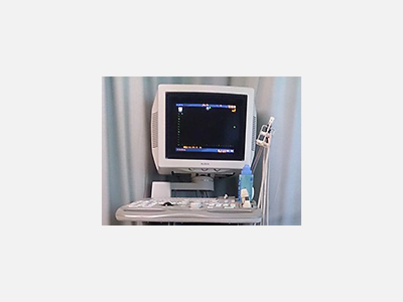 心電図以外にも心臓超音波検査が行えます
