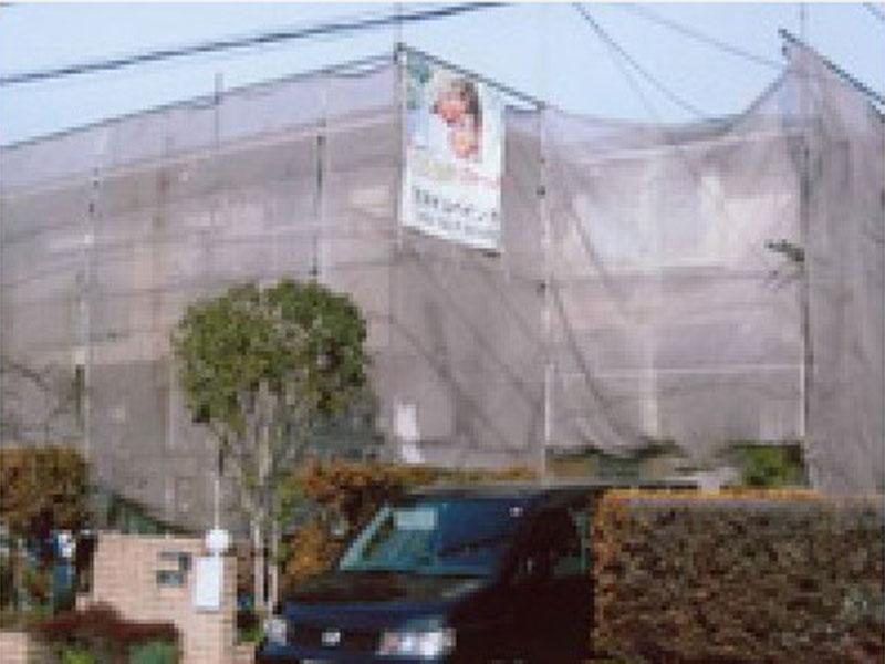 外壁塗装 塗装 防水 屋根工事前に足場を組みます