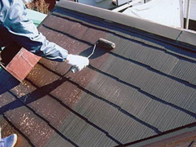 外壁塗装 塗装 防水 屋根工事の中塗り
