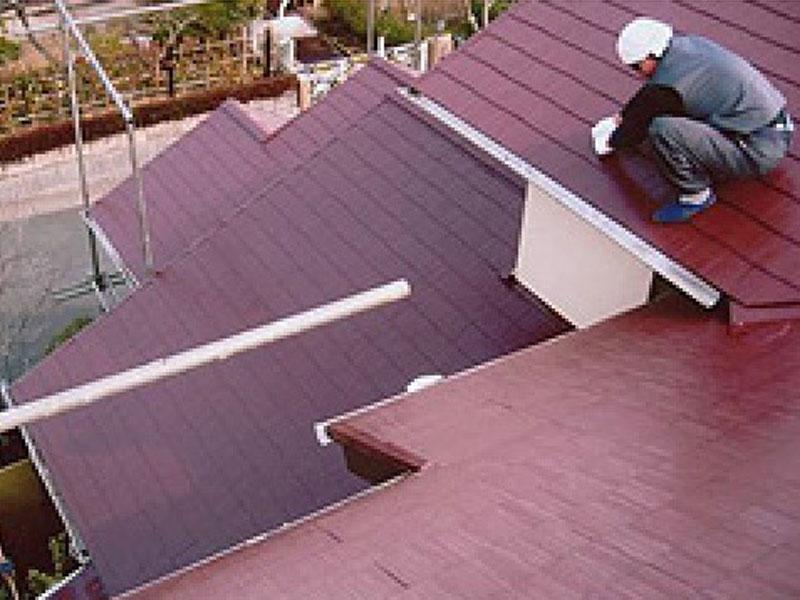 外壁塗装 塗装 防水 屋根工事の仕上げ塗り