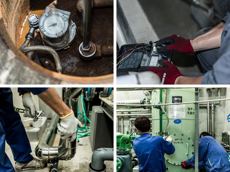 油地下タンク等の定期点検/ろ過循環設備の保守管理