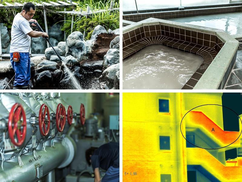 温浴施設の水質保全衛生管理/建物の定期検査等