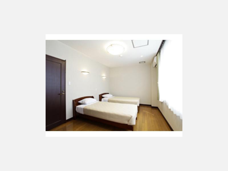 ベッド完備のプライベート空間