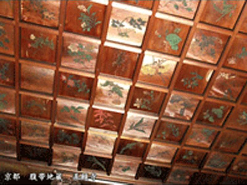 天井絵/花卉図