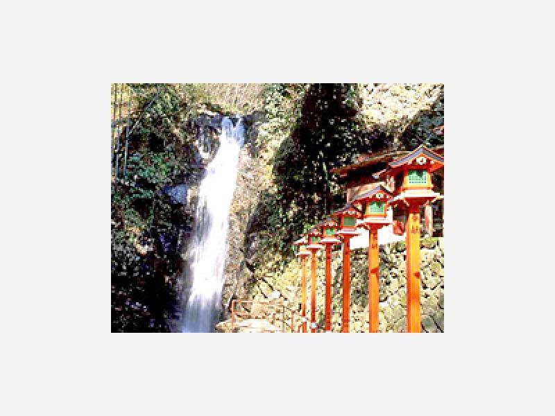 名勝「不動滝」 当館から徒歩3分の名瀑です