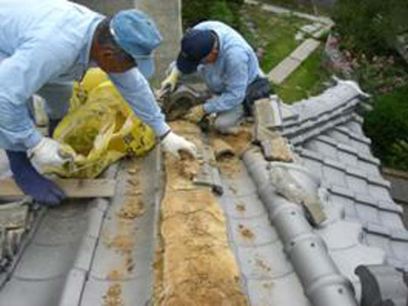 日本家屋屋根瓦葺き替え