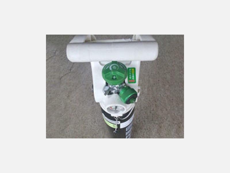 ▲製品・サービス(防災):酸素流量調整器一体型ボンベ