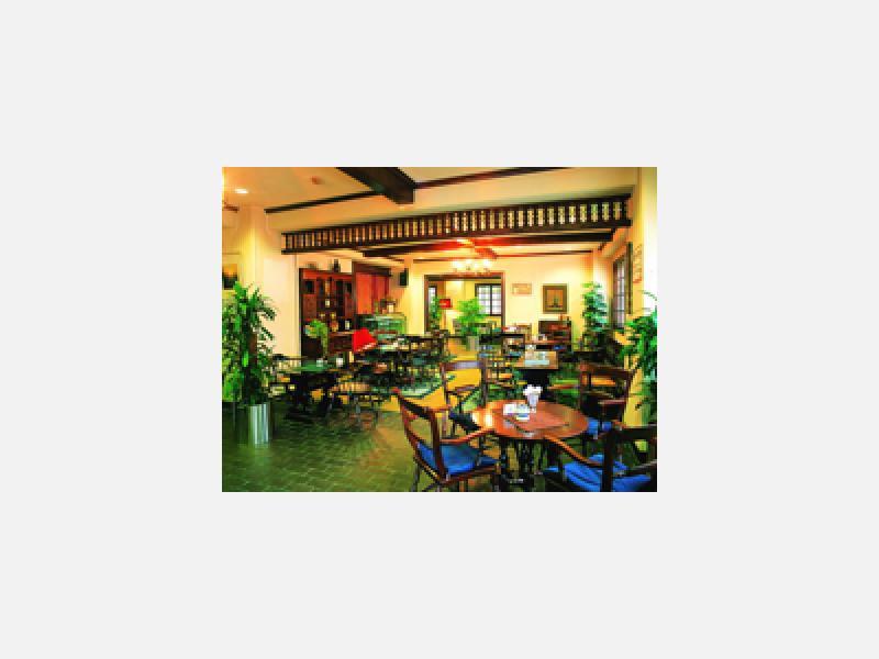 ホテル館内の喫茶店