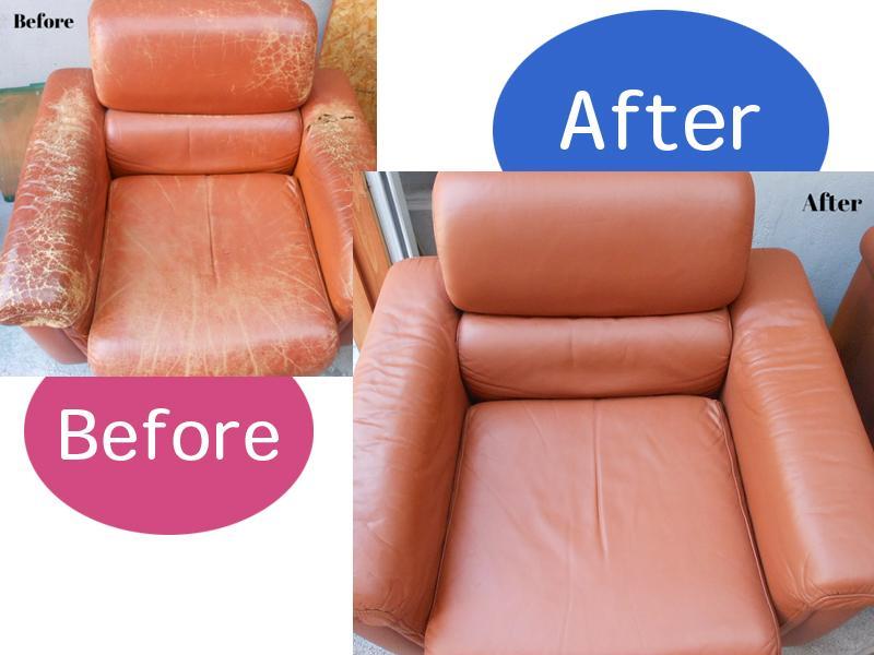製革ソファーの破れ傷補修
