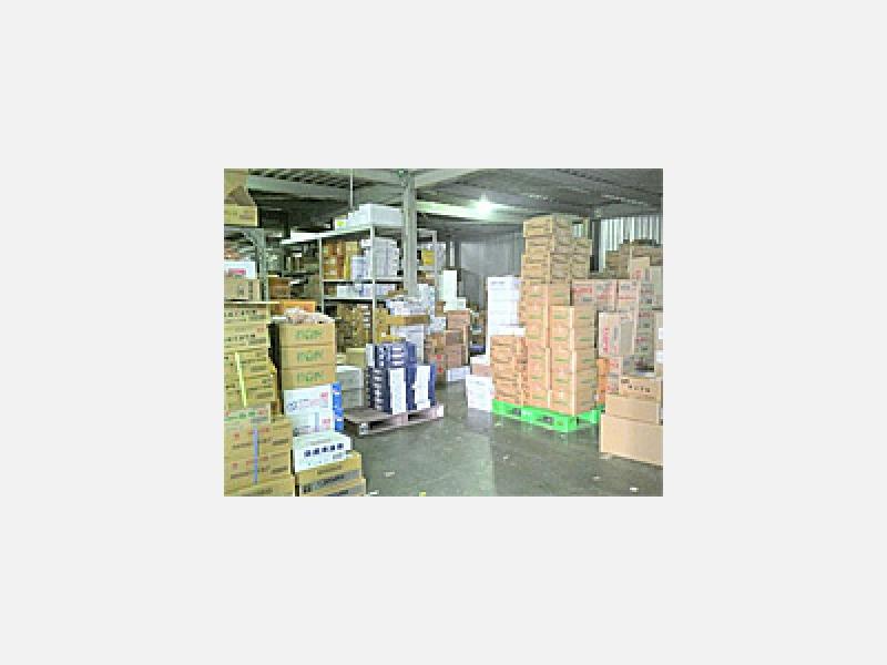 常時、冷凍倉庫で約1800点を管理