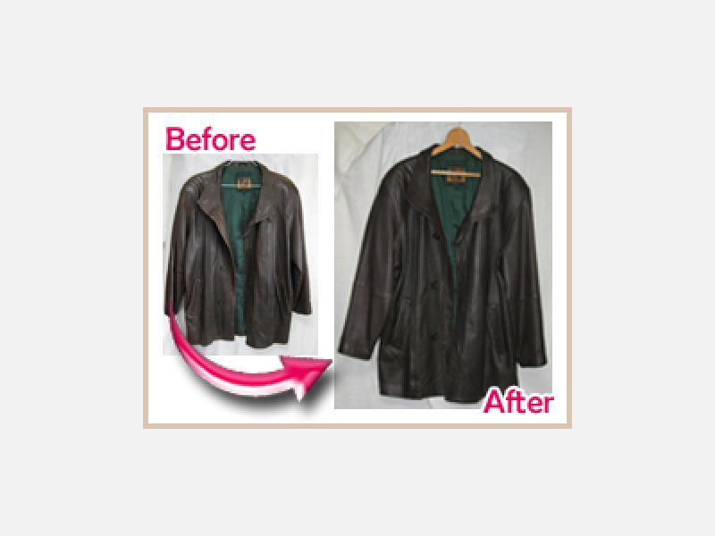 コート補修 全体的な色はげや擦れ