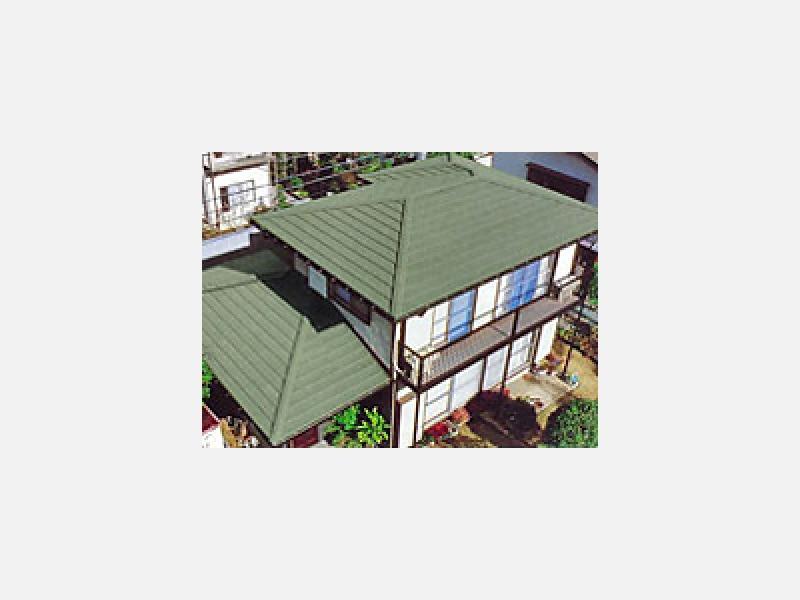 ★断熱効果・色あせない天然素材・地震に強い…屋根の施工例