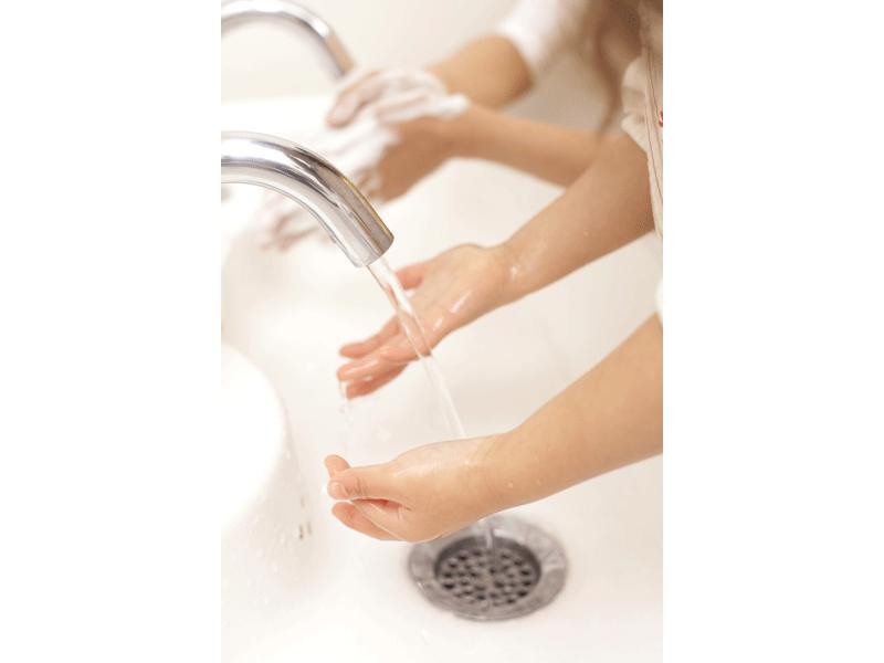 手洗いは30秒間せっけんで!何よりの風邪の予防!
