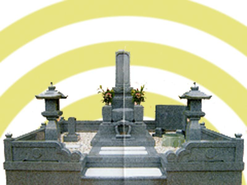 出雲型10寸「絆型」墓石玉垣Bタイプ