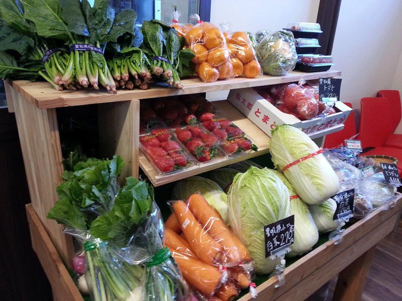 地元農家の採れたて新鮮野菜です