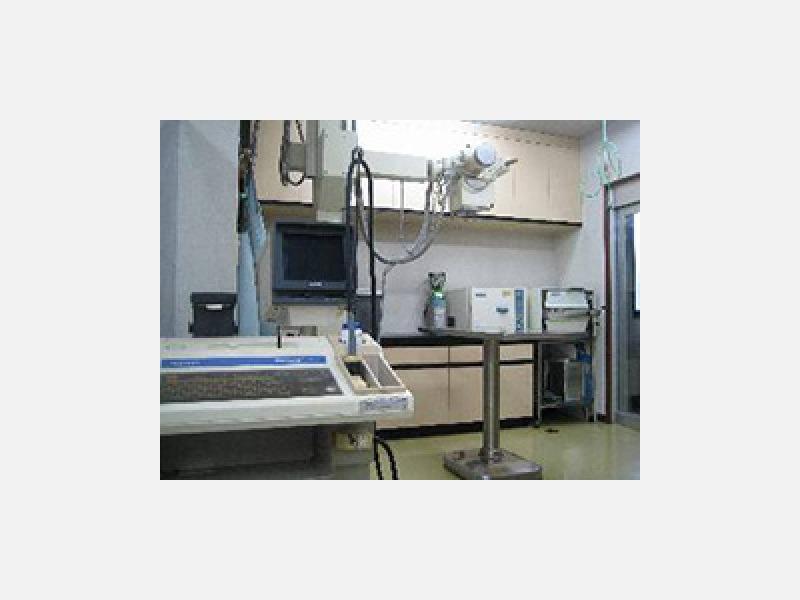 レントゲン室奥には手術室があります