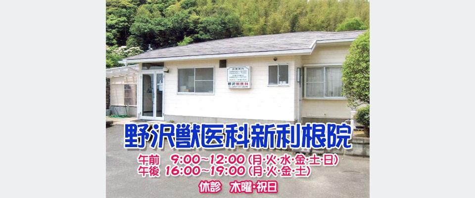 稲敷市 下太田の野沢獣医科新利根院 駐車場あり