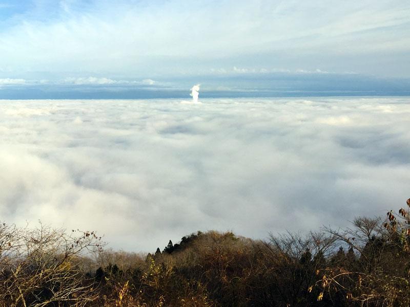 鹿狼山からみた雲海
