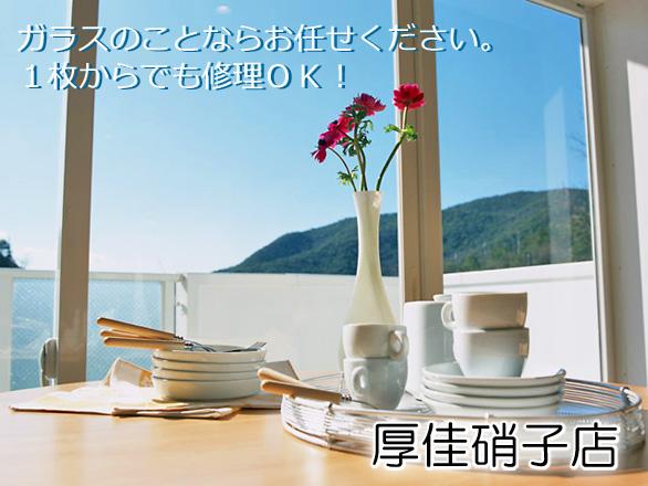 小山市 小山駅 鍵 厚佳硝子店 ガラス 網戸 鏡 サッシ