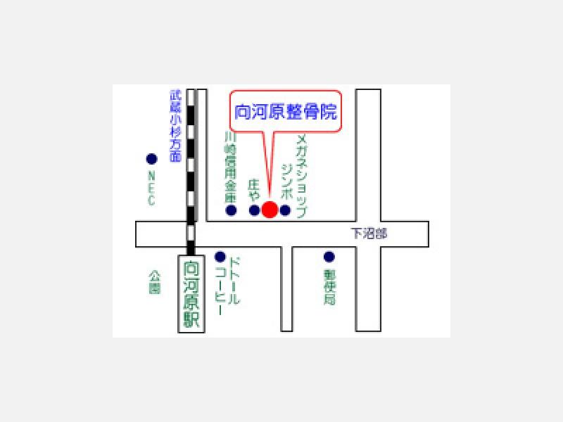 JR南武線・向河原駅東口より徒歩1分