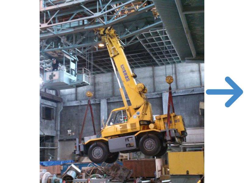 海外移設向大型抄紙機及び関連設備解体工事